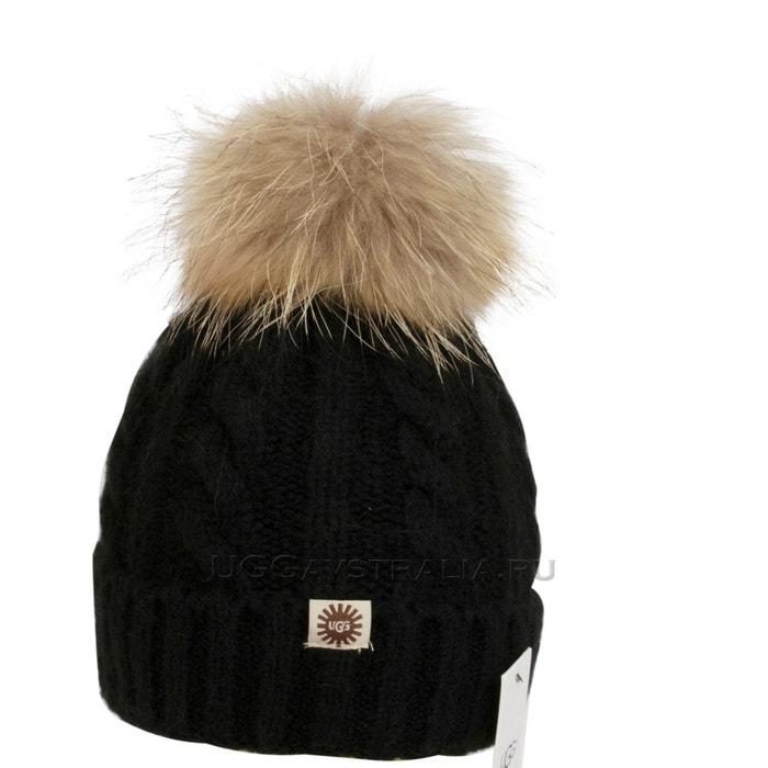 Женская шапка UGG Knit Pom Hat Black
