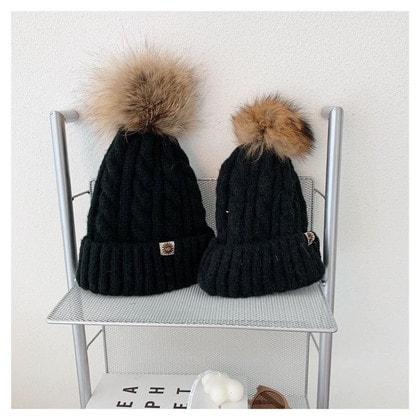 Шапка UGG Knit Pom Hat Black