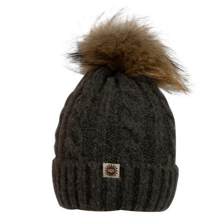 Шапка UGG Knit Pom Hat Dark Grey