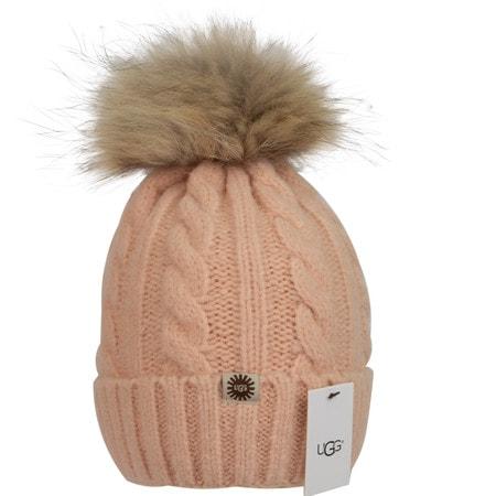 Шапка UGG Knit Pom Hat Pink