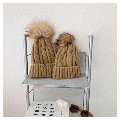 Шапка UGG Knit Pom Hat Camel