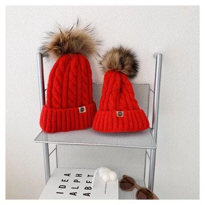 Шапка UGG Knit Pom Hat Red