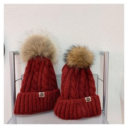Шапка UGG Knit Pom Hat Bordo