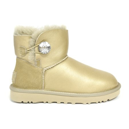 Угги UGG Mini Bailey Bling Metallic Soft Gold