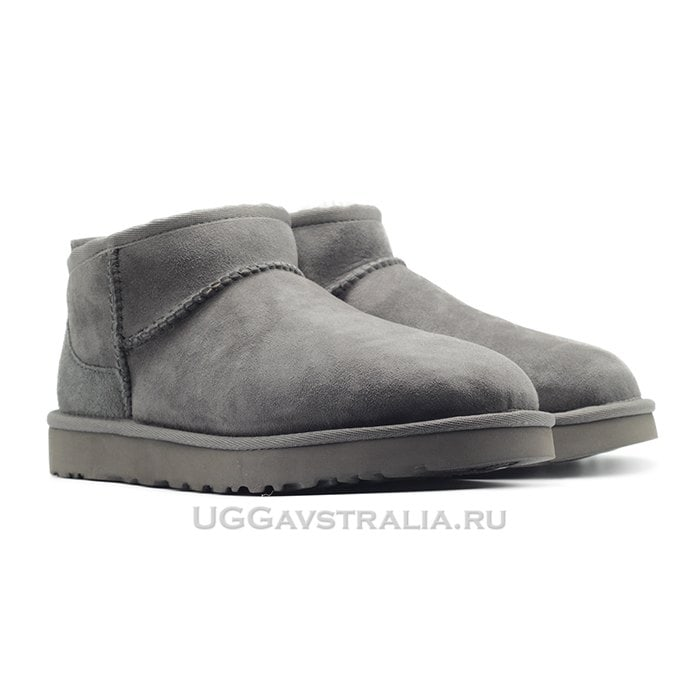 Мужские полусапожки UGG Mens Classic Ultra Mini Grey