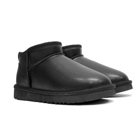 Угги UGG Mens Classic Ultra Mini Leather Black