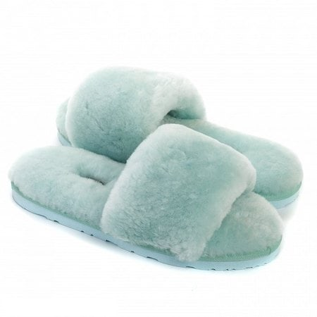 Тапочки UGG Fluff Slide Slippers Lake Blue