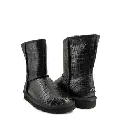 Угги UGG Classic Short Croco Leather Black