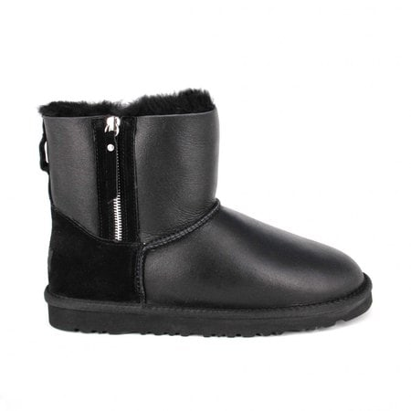 Угги UGG Mens Classic Mini Double Zip Metallic Black