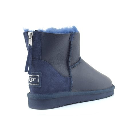Угги UGG Classic Mini Zip Metallic Navy