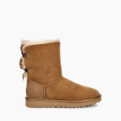 Угги UGG Bailey Bow II Metallic Chestnut