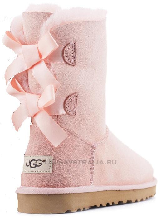 Женские полусапожки UGG Bailey Bow II Pink