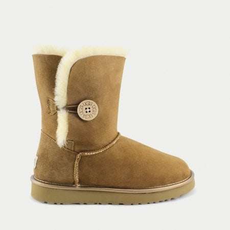 Угги UGG Bailey Button II Metallic Chestnut