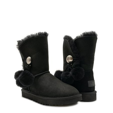 Угги UGG Bailey Button Pom Black
