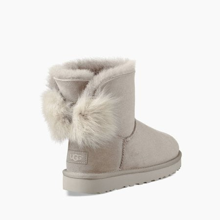 Угги UGG Classic Mini Fluff Bow Boot Willow