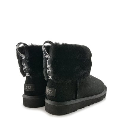 Угги UGG Classic Mini Fluff Quilted Boot Black