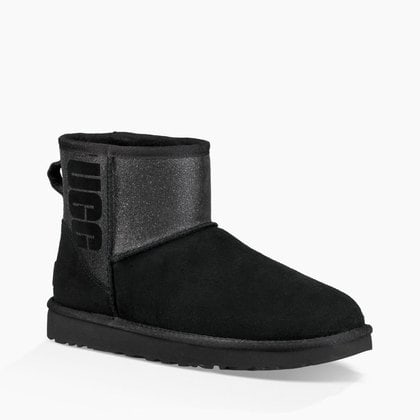 Угги UGG Classic Mini Sparkle Boot Black