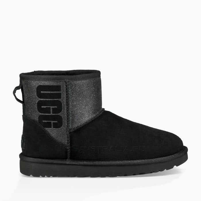 Угги UGG Classic Mini Sparkle Boot Black