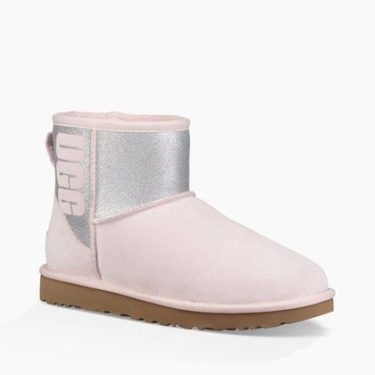 Угги UGG Classic Mini Sparkle Boot Seashell Pink