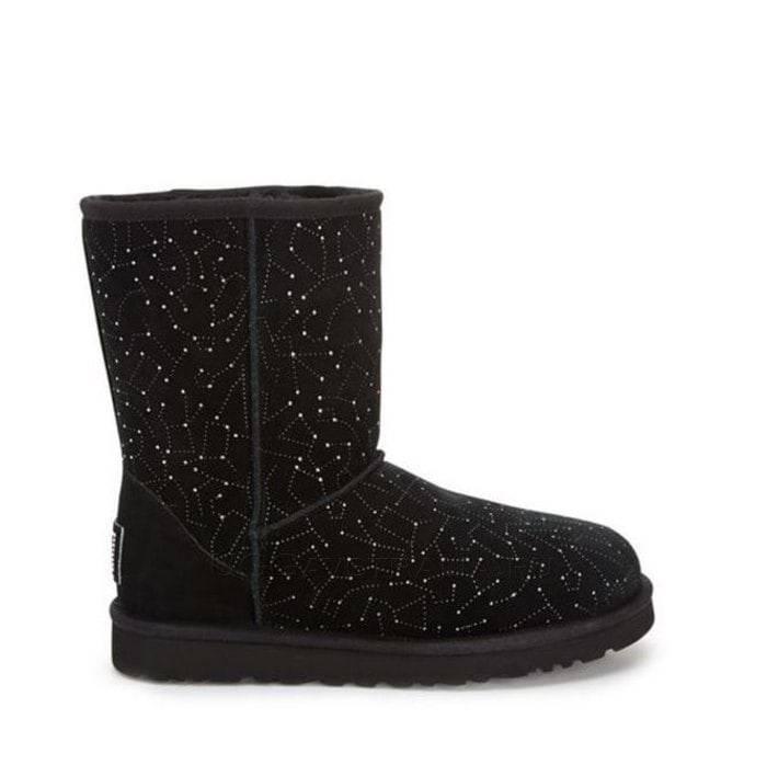 Женские полусапожки UGG Classic Short Constellation Black