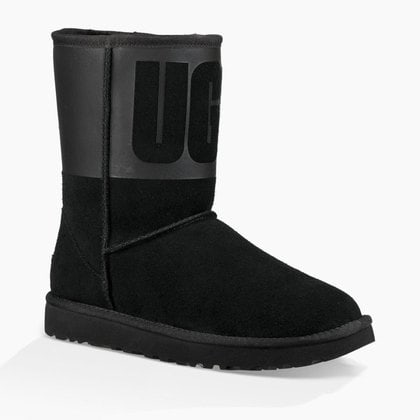 Угги UGG Classic Short Rubber Boot Black