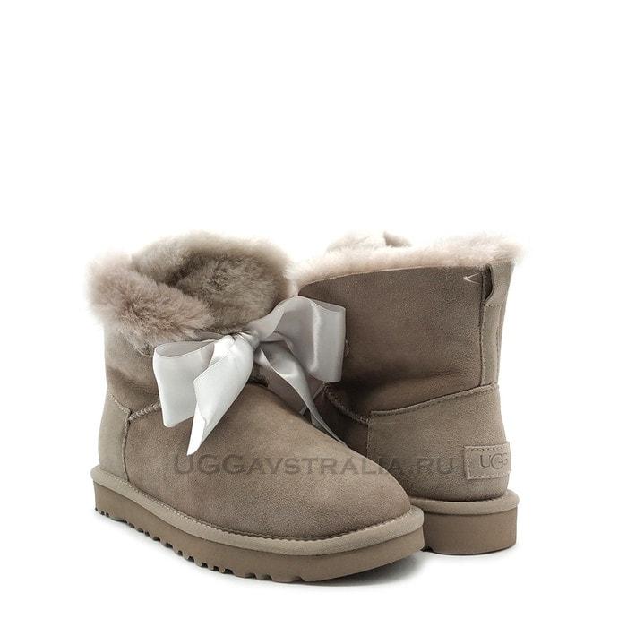 Женские полусапожки UGG Gita Bow Mini Boot Seal