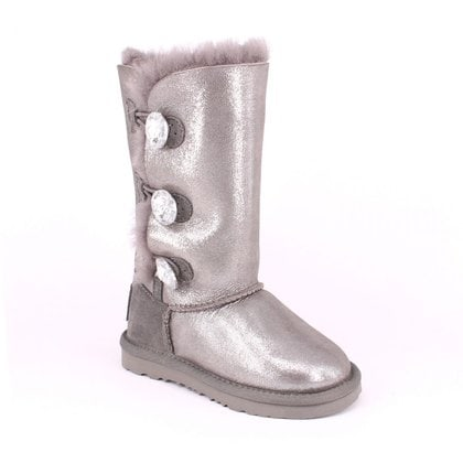 Угги UGG Kids Bailey Bling Triplet Glitter Grey