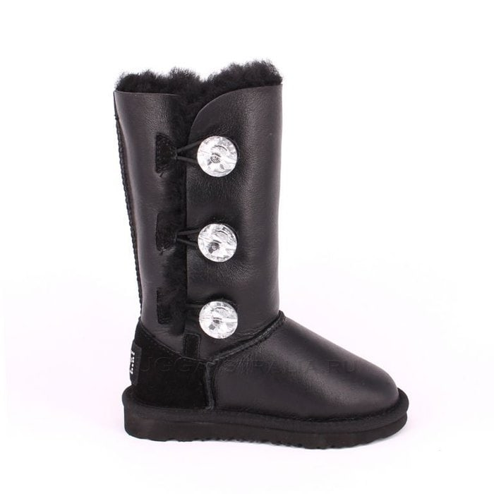 Детские полусапожки UGG Kids Bailey Bling Triplet Metallic Black