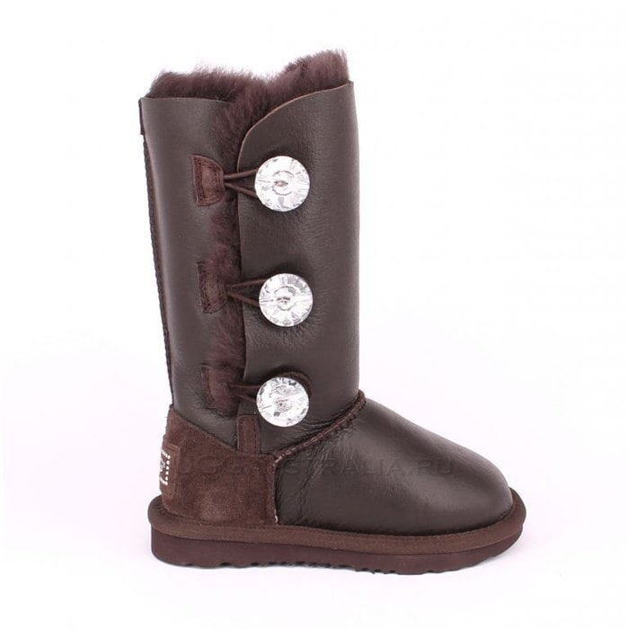 Детские полусапожки UGG Kids Bailey Bling Triplet Metallic Chocolate