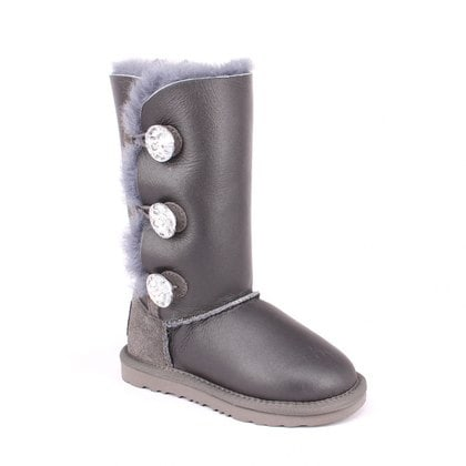 Угги UGG Kids Bailey Bling Triplet Metallic Grey