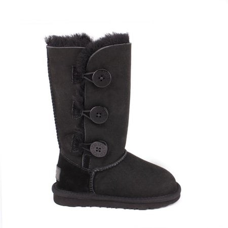 Угги UGG Kids Bailey Button II Triplet Black