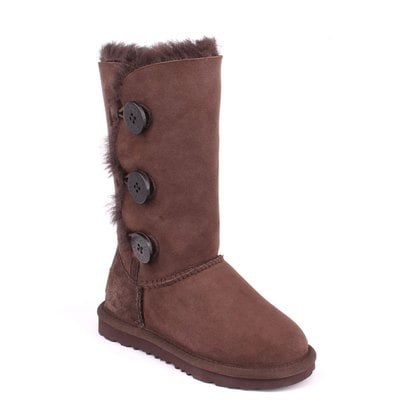 Угги UGG Kids Bailey Button II Triplet Chocolate