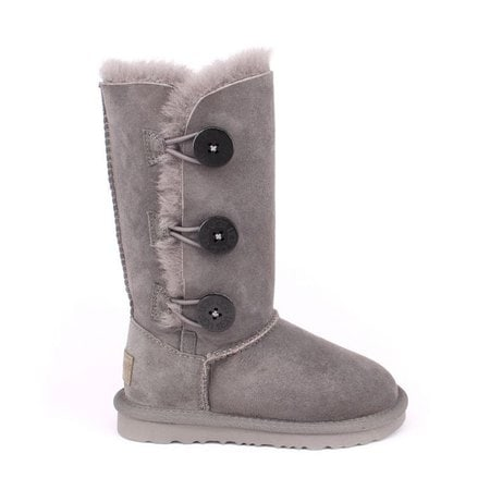 Угги UGG Kids Bailey Button II Triplet Grey