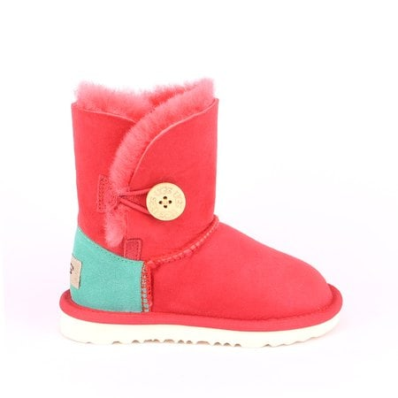 Угги UGG Kids Bailey Button Red/Green