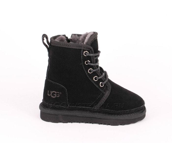 Детские ботинки UGG Kids Harkley Boots Black