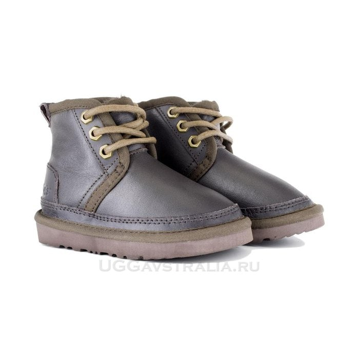 Детские ботинки UGG Kids Neumel Boots Metallic Chocolate