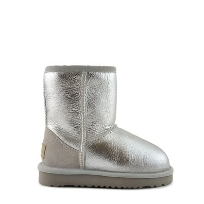 Угги UGG Kids Classic Short Metallic Silver