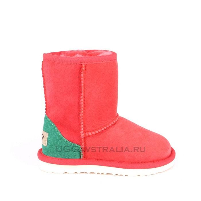 Детские полусапожки UGG Kids Classic Short Red And Green