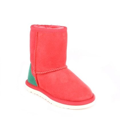 Угги UGG Kids Classic Short Red And Green