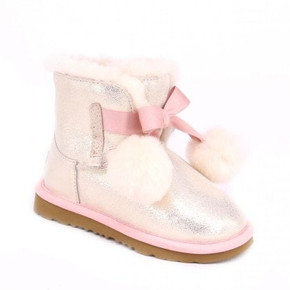 Угги UGG Kids Gita Metallic Gold/Pink