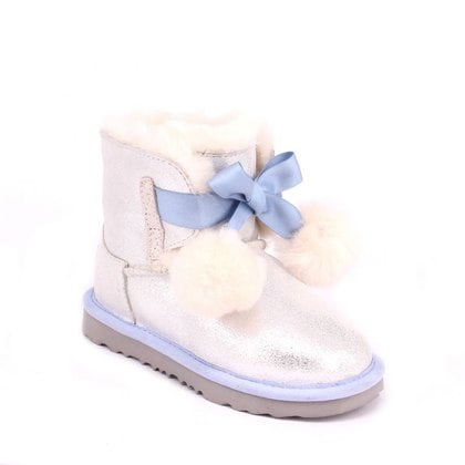 Угги UGG Kids Gita Metallic Silver/Blue