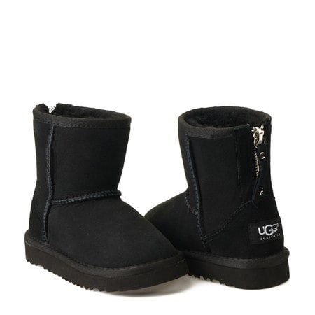 Угги UGG Kids Classic Short Zip Black