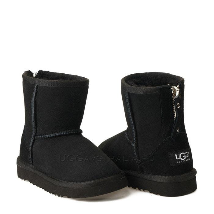 Детские полусапожки UGG Kids Classic Short Zip Black