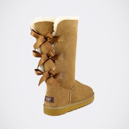 Угги UGG Bailey Bow Tall Chestnut