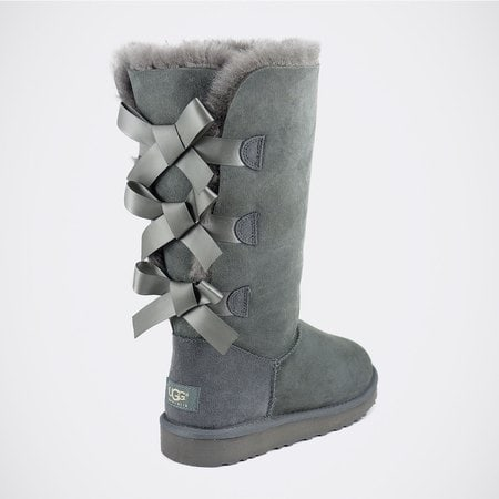 Угги UGG Bailey Bow Tall Grey