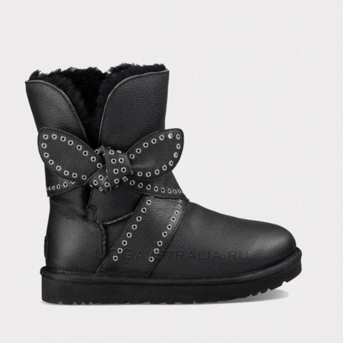 Женские полусапожки UGG Mabel Leather Black