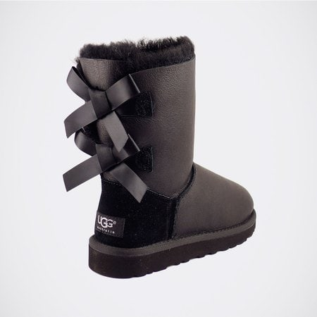 Угги UGG Bailey Bow Metallic Black