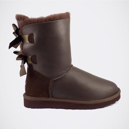 Угги UGG Bailey Bow Metallic Chocolate