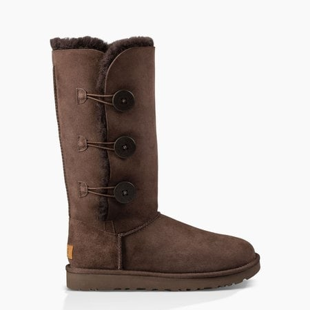 Угги UGG Bailey Button Triplet II Chocolate