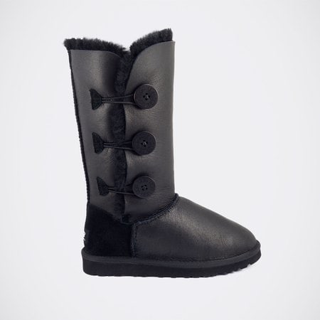 Угги UGG Bailey Button Triplet Metallic Black